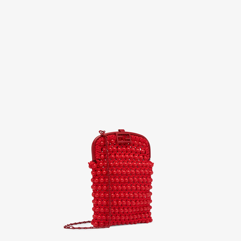 FENDI BAGUETTE PHONE BAG - Red lace mini-bag - view 2 detail