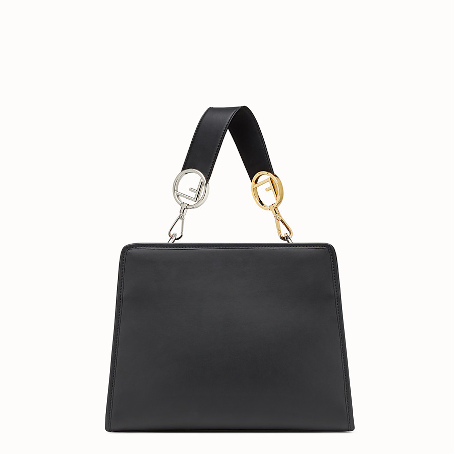 FENDI RUNAWAY SMALL - Black leather bag - view 3 detail
