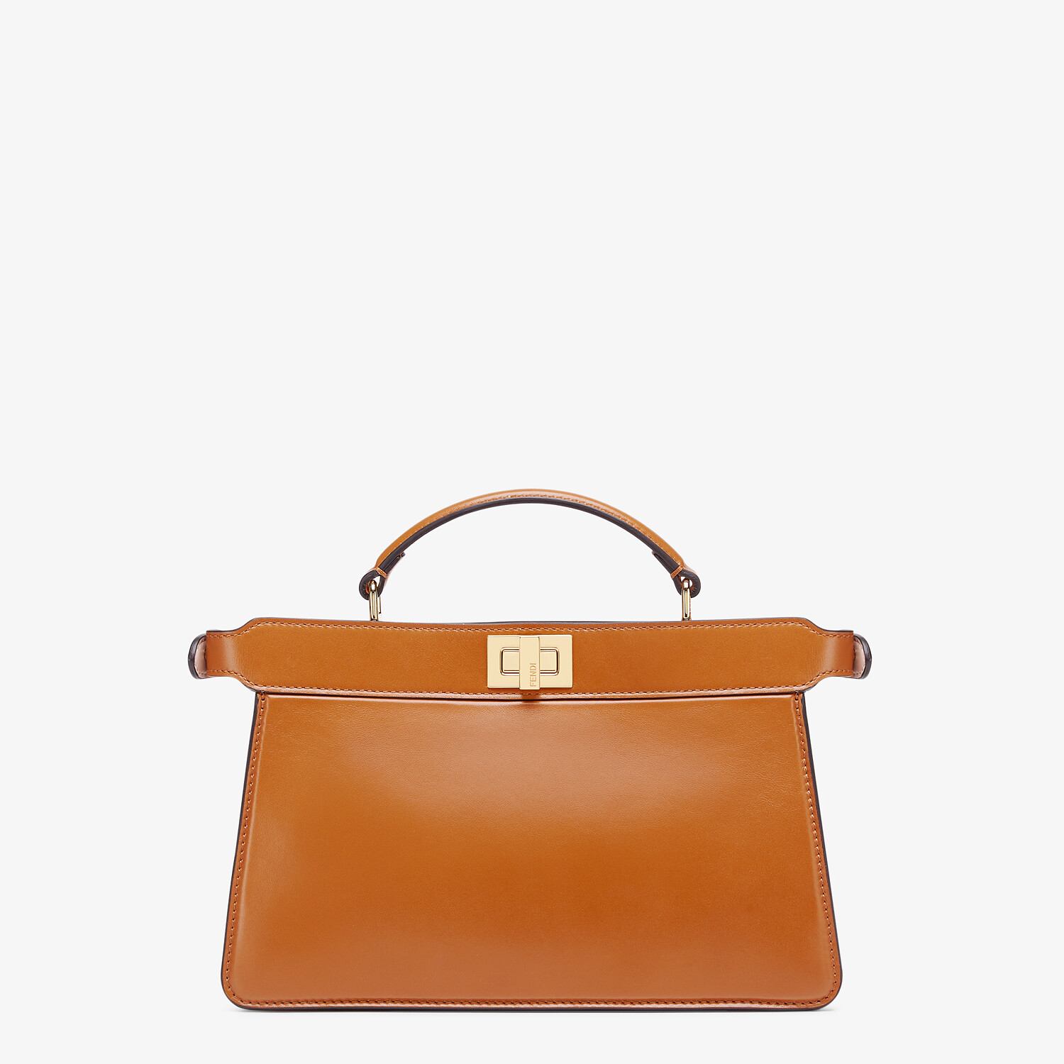 FENDI PEEKABOO ISEEU EAST-WEST - Brown leather bag - view 3 detail