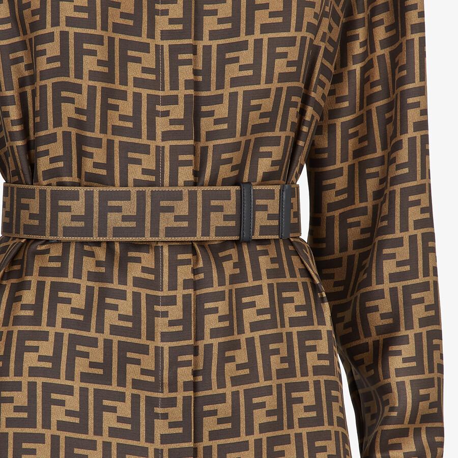 FENDI DRESS - Brown silk dress - view 3 detail