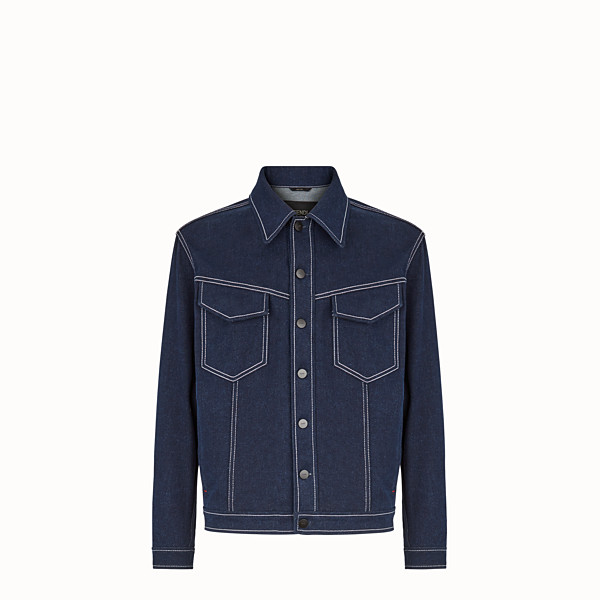 FENDI BLOUSON JACKET - Blue denim jacket - view 1 small thumbnail
