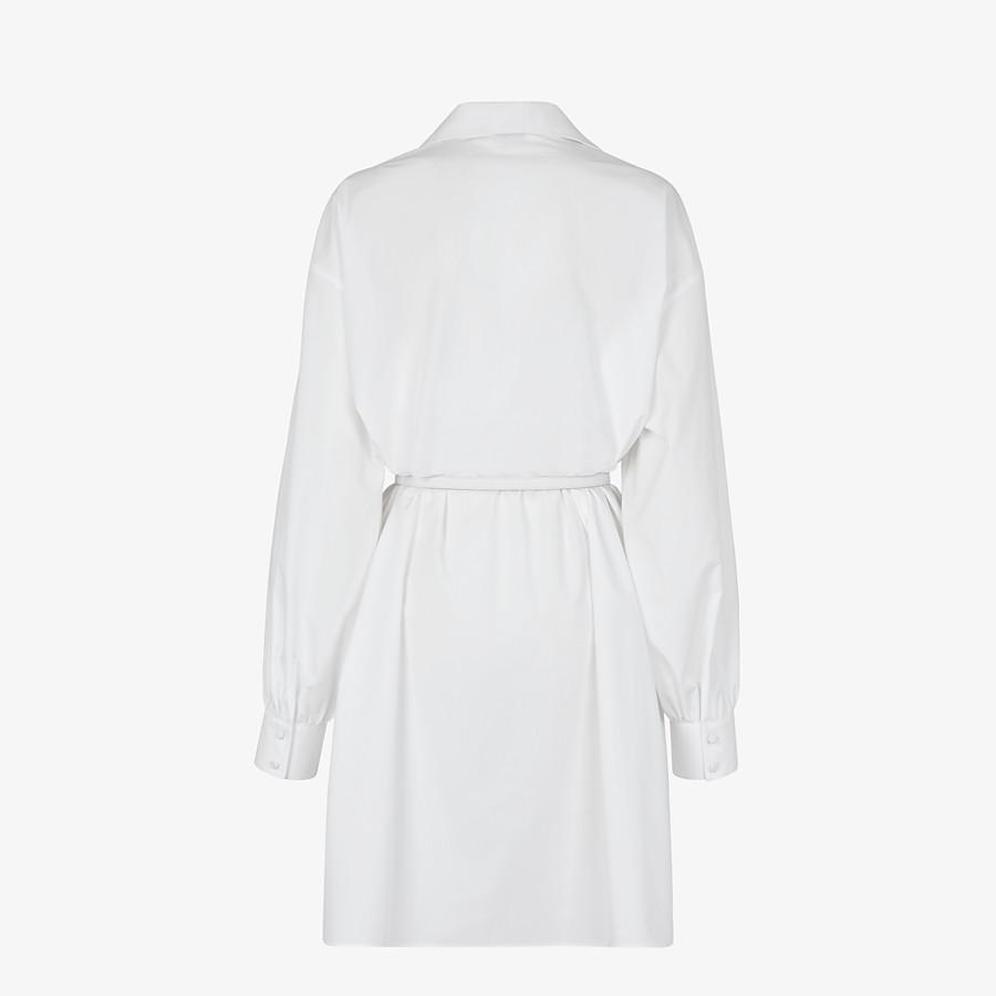 FENDI DRESS - White cotton taffeta dress - view 2 detail