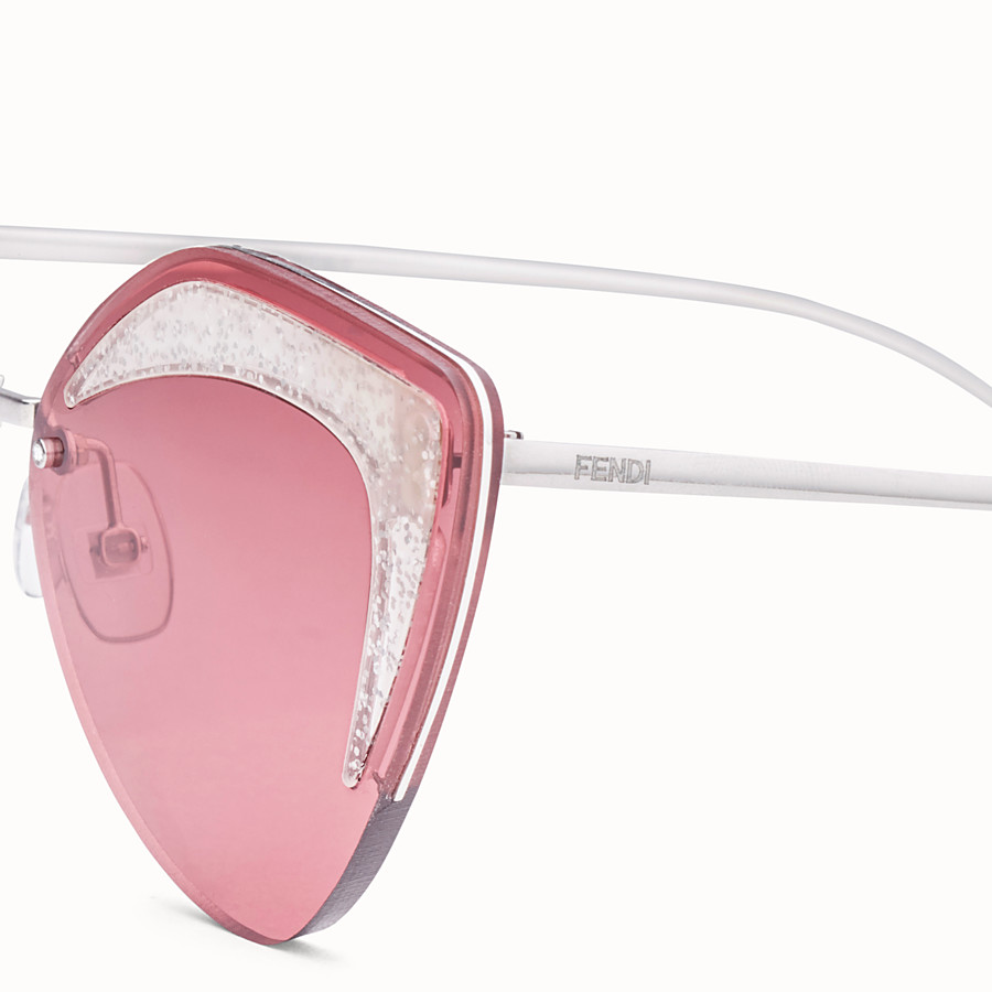 FENDI FENDI GLASS - Silver-coloured sunglasses - view 3 detail