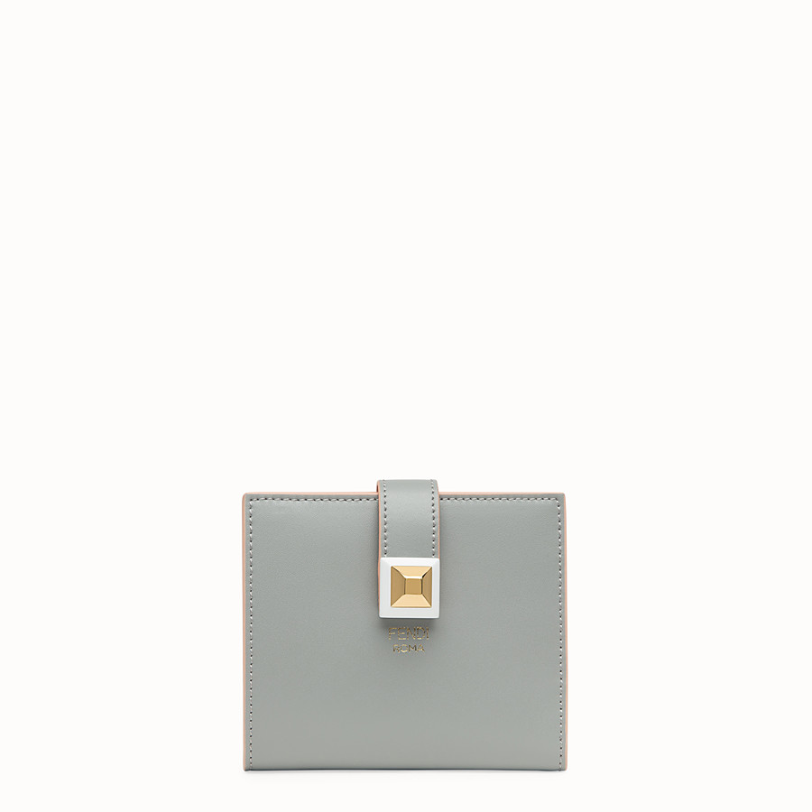 FENDI BIFOLD - Grey compact leather wallet - view 1 detail