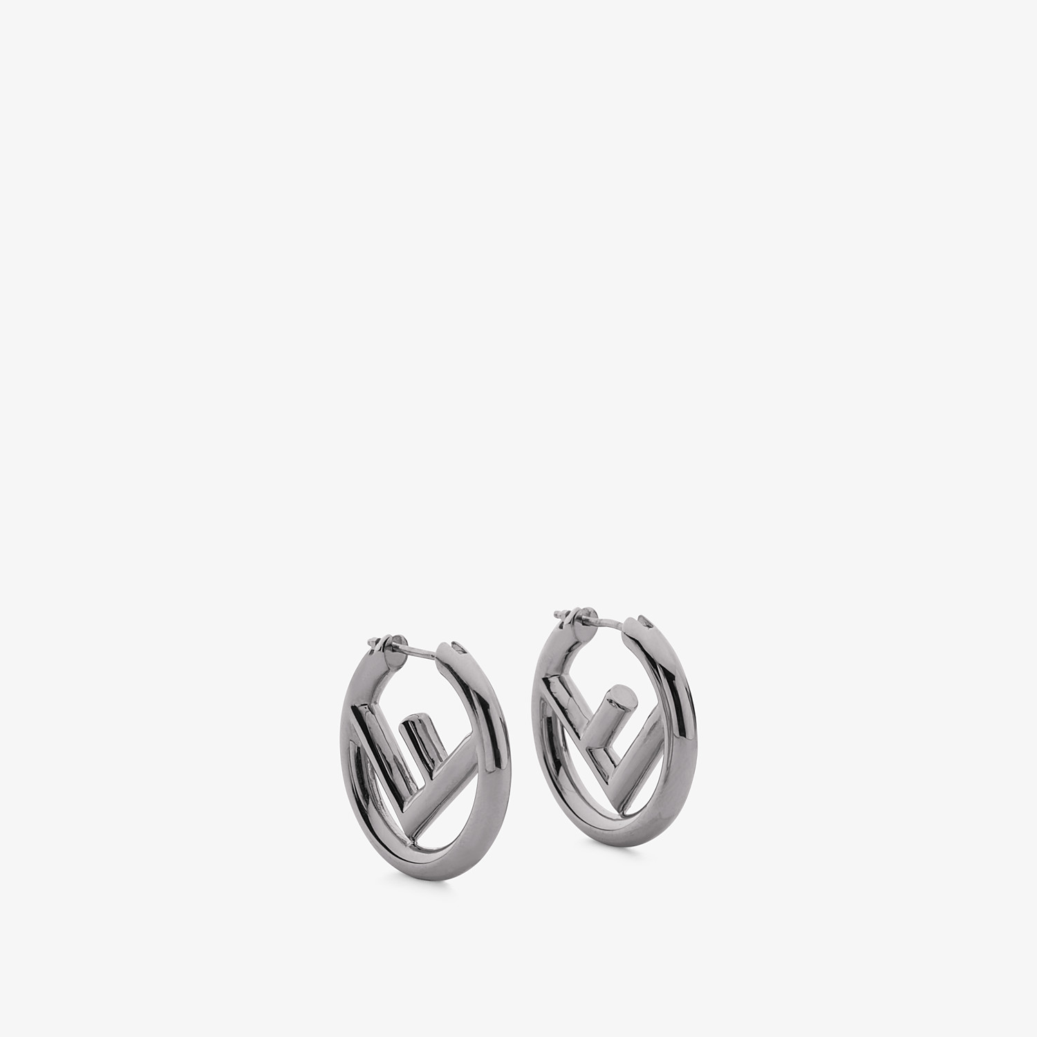 FENDI F IS FENDI EARRINGS - Ruthenium colour earrings - view 1 detail