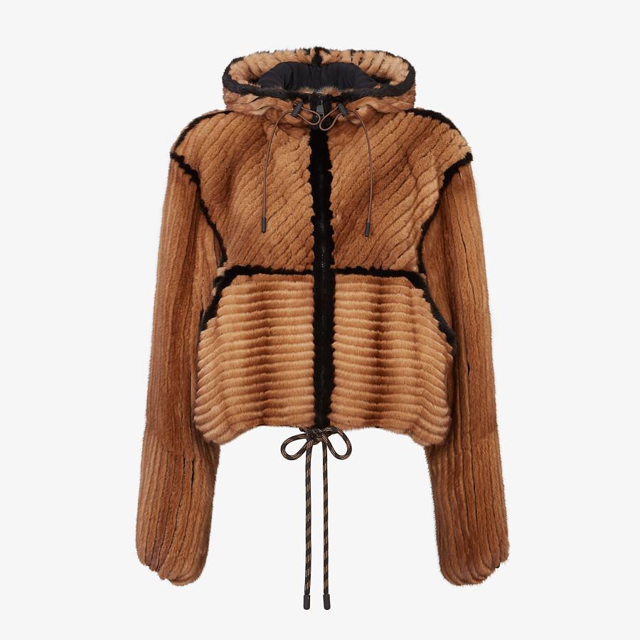 FENDI JACKET - Brown mink jacket - view 1 detail