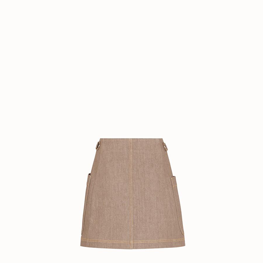 FENDI SKIRT - Beige denim skirt - view 2 detail