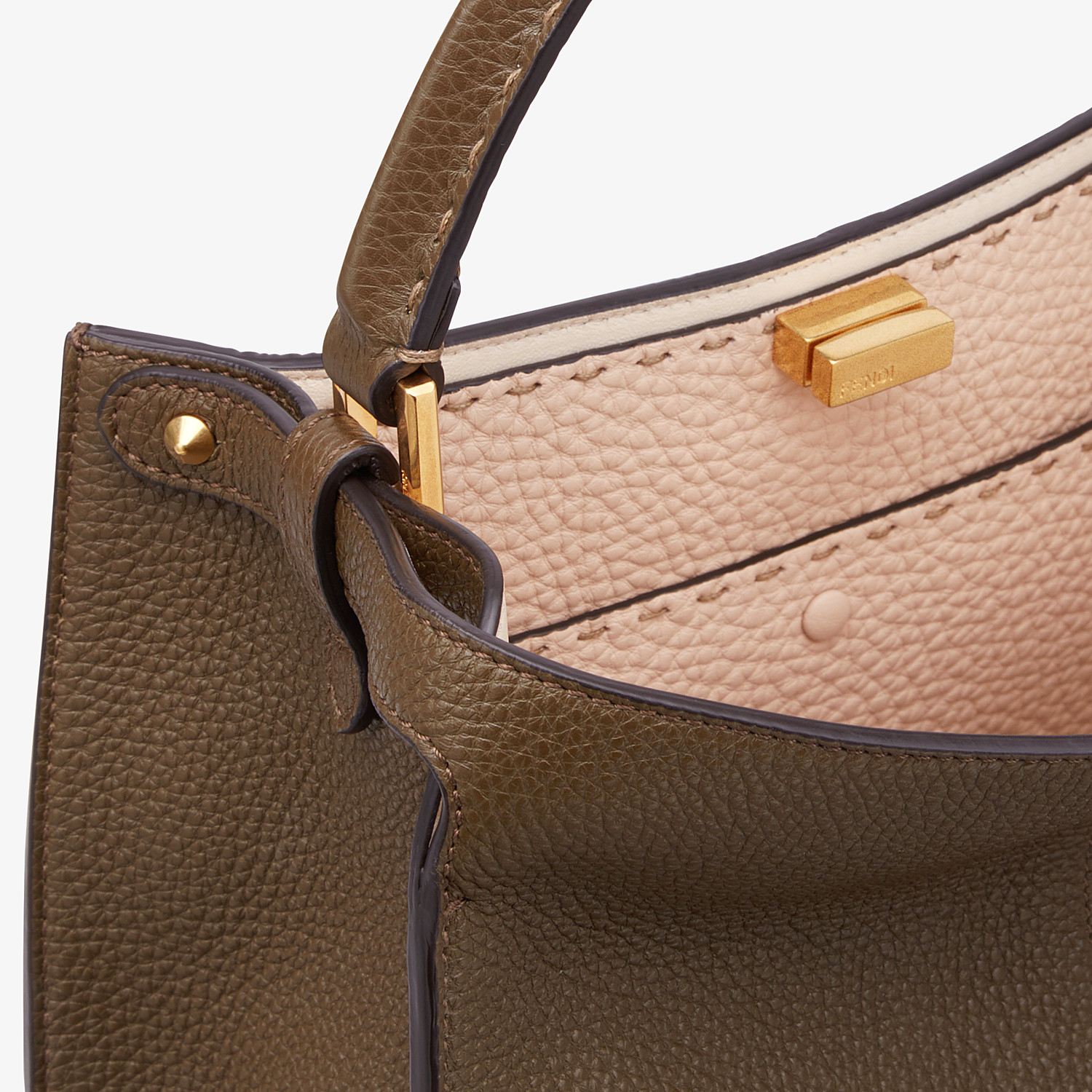 FENDI PEEKABOO X-LITE MEDIUM - Brown Selleria bag - view 6 detail