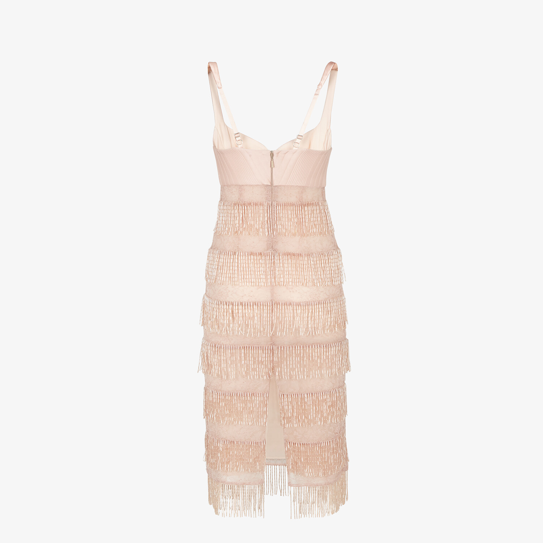 FENDI DRESS - Pink silk and lace dress - view 2 detail