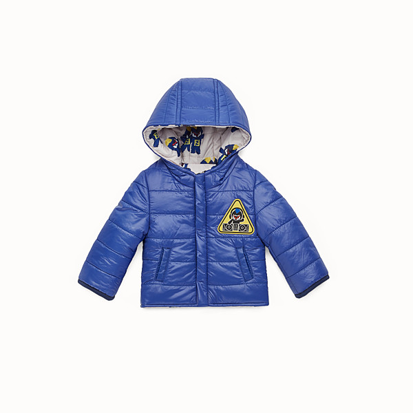FENDI PIUMINO - Piumino baby boy in nylon bluette - vista 1 thumbnail piccola
