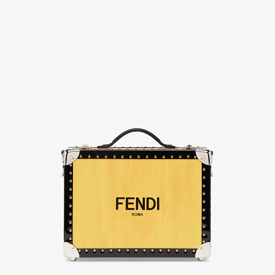 FENDI TRAVEL BAG SMALL - Yellow leather suitcase - view 1 detail
