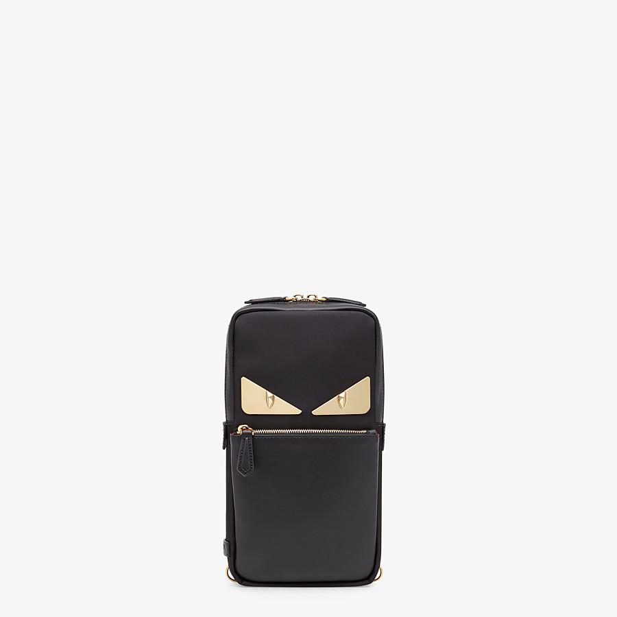FENDI SAC BANANE - Sac à dos à bretelle simple en nylon noir - view 1 detail