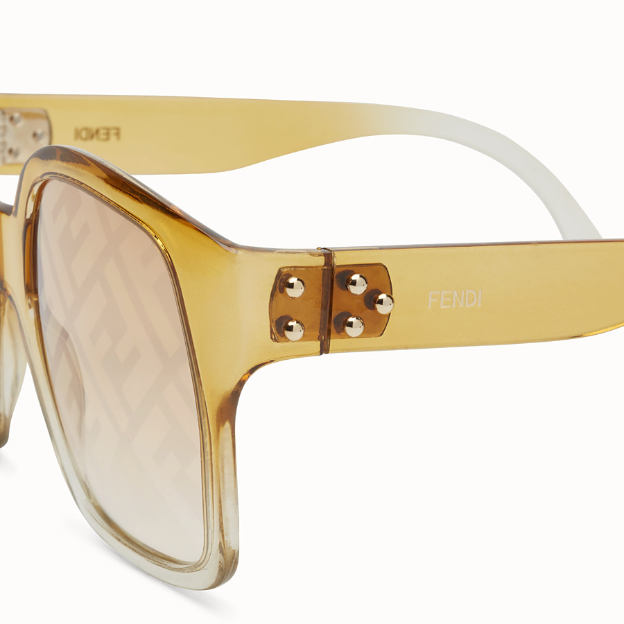 FENDI FENDI DAWN - Yellow sunglasses - view 3 detail