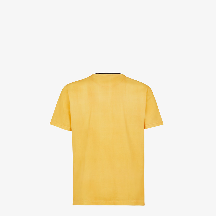 FENDI T-SHIRT - Yellow cotton T-shirt - view 2 detail