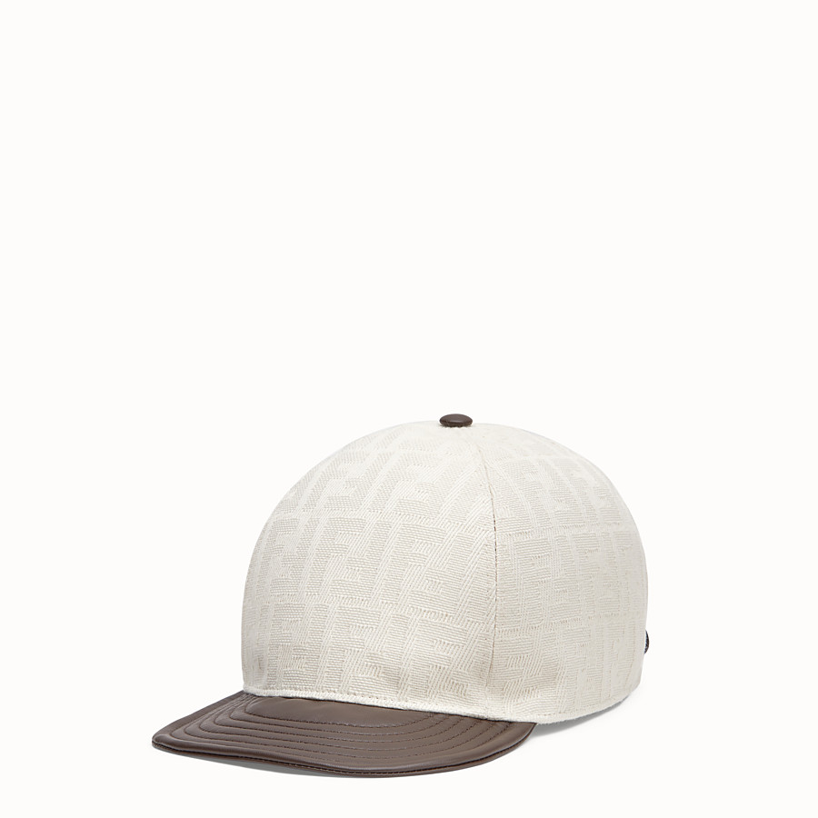 FENDI HAT - White canvas baseball cap - view 1 detail