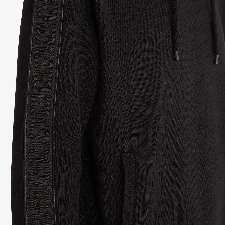 FENDI FELPA - Felpa in jersey nero - vista 3 dettaglio