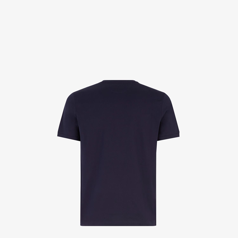 FENDI T-SHIRT - Dark blue jersey T-shirt - view 2 detail