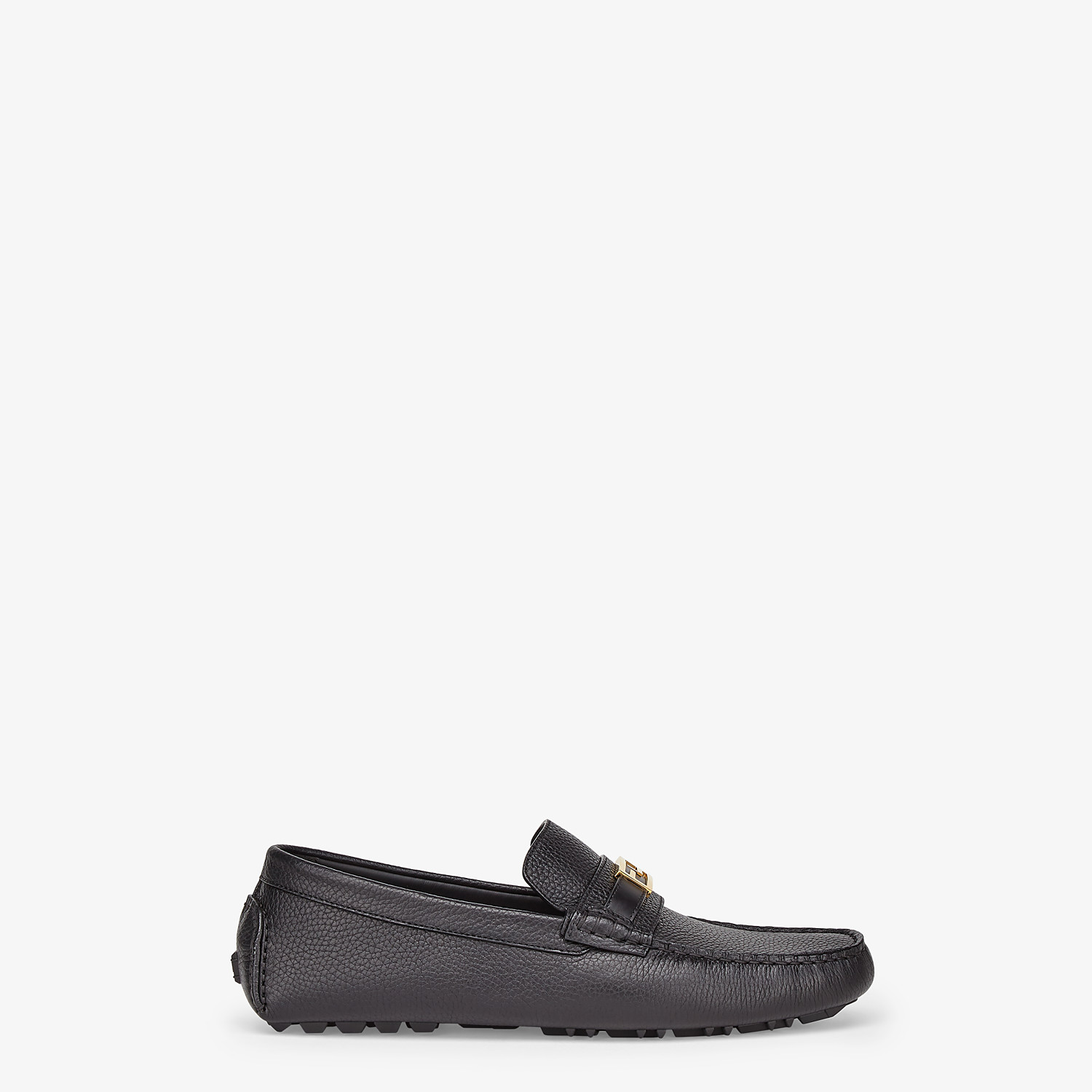 FENDI LOAFERS - Black leather drivers - view 1 detail