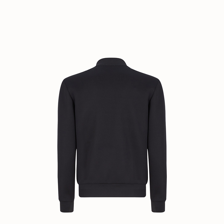 FENDI BLOUSON JACKET - Black neoprene jacket - view 2 detail
