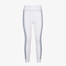 FENDI LEGGINGS - White stretch fabric leggings - view 1 thumbnail