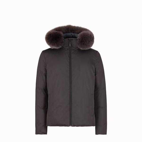 FENDI DOWN JACKET - Gray nylon down jacket - view 1 small thumbnail