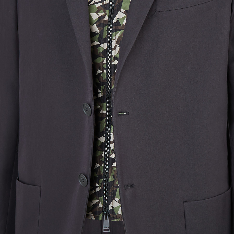 FENDI JACKET - Black cotton blazer - view 3 detail