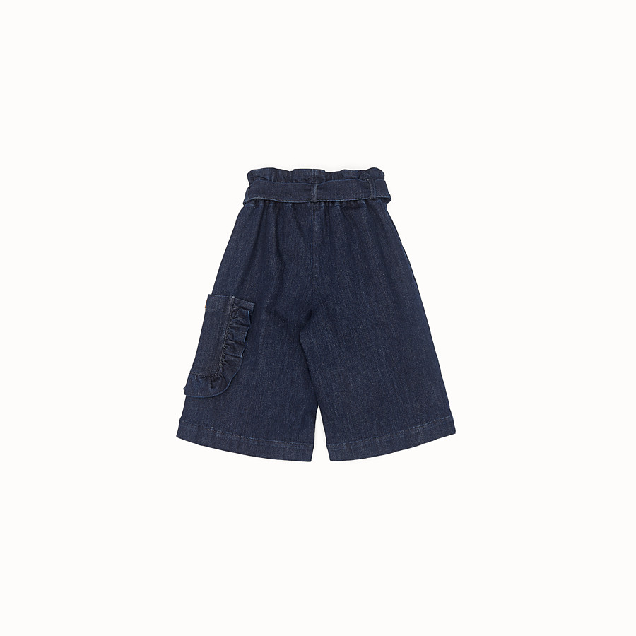 FENDI SHORTS - Blue denim Bermudas - view 2 detail