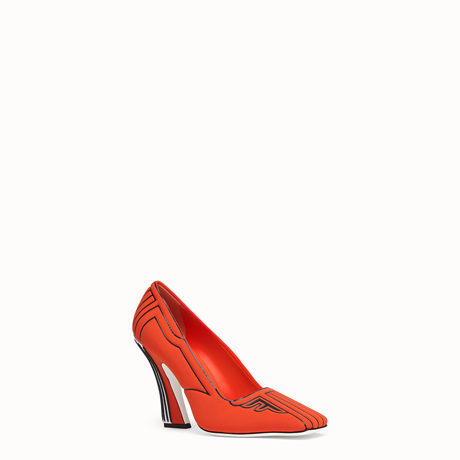 FENDI COURT SHOES - Court shoes in red fabric - view 2 detail