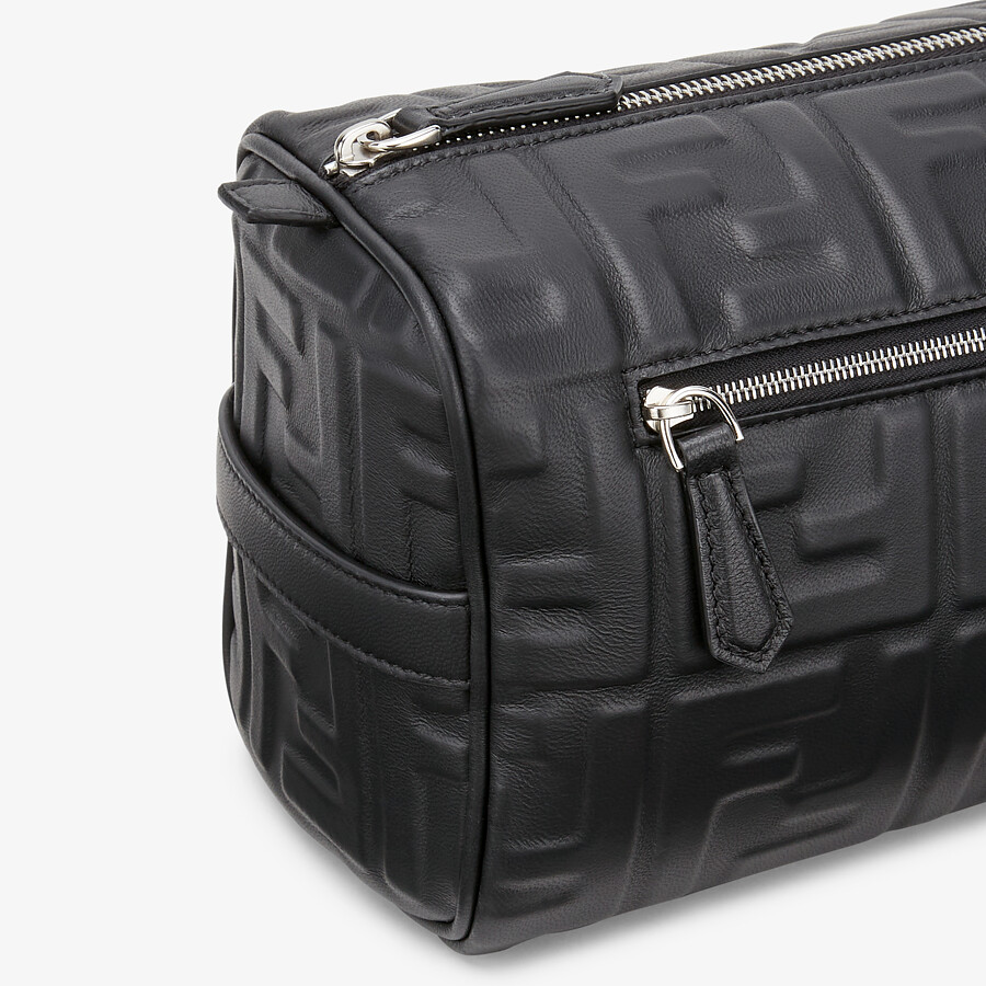 FENDI TRAVEL CASE - Black nappa leather toiletry case - view 5 detail