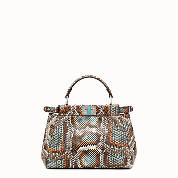 FENDI PEEKABOO MINI - Multicolour python handbag - view 1 small thumbnail