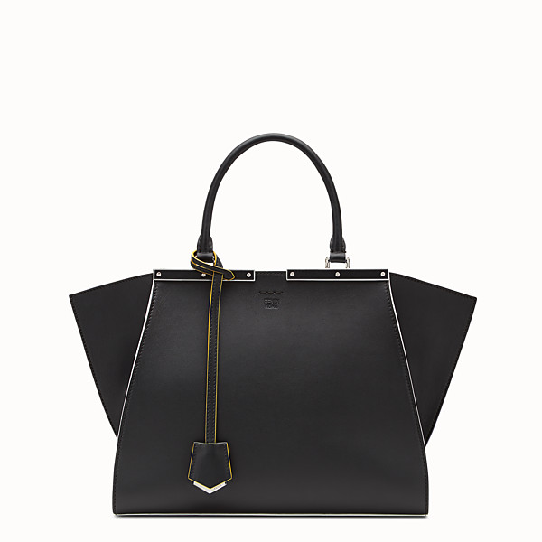 FENDI 3JOURS - Black leather shopping bag - view 1 小型縮圖