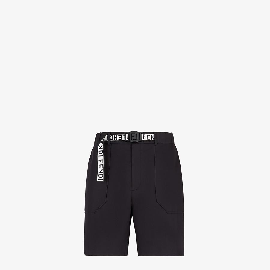 FENDI BERMUDAS - Black cotton pants - view 1 detail