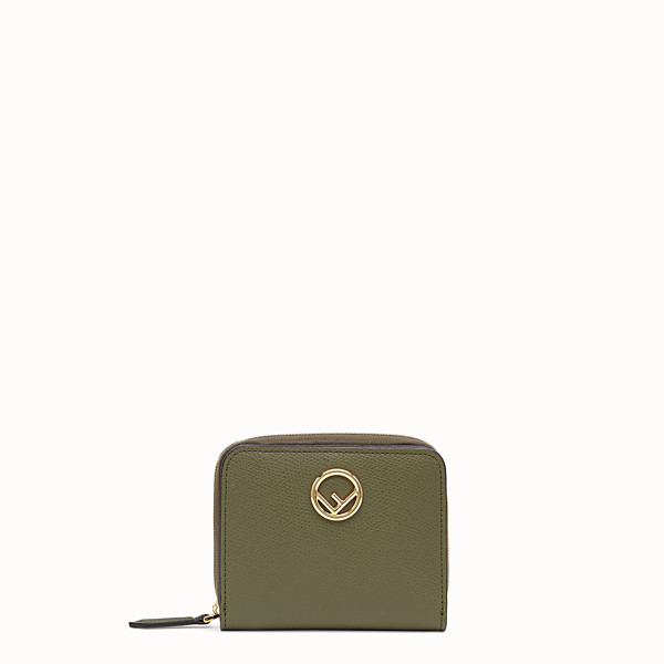 FENDI MEDIUM ZIP-AROUND - Green leather wallet - view 1 small thumbnail
