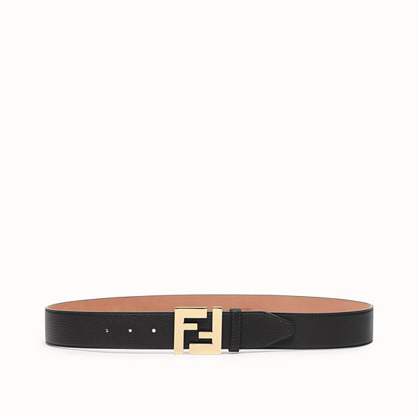 FENDI BELT - Black Romano leather belt - view 1 small thumbnail