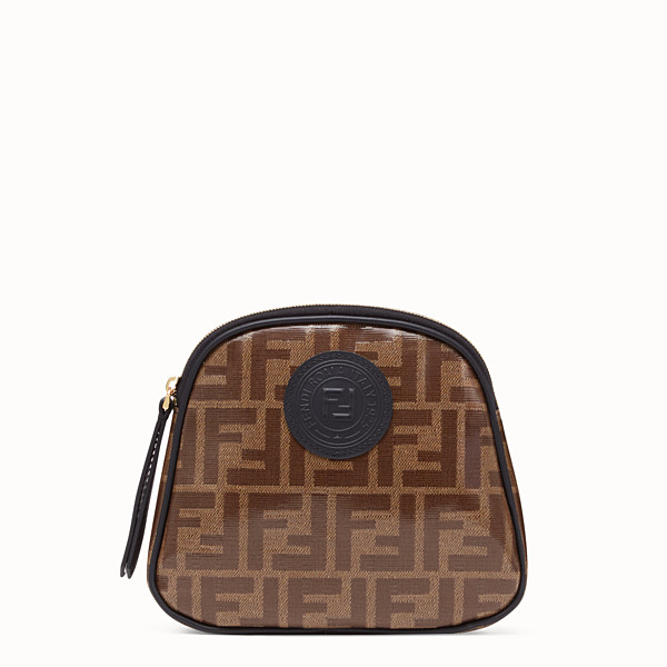 FENDI TOILETRY CASE MEDIUM - Brown fabric toiletry case - view 1 small thumbnail