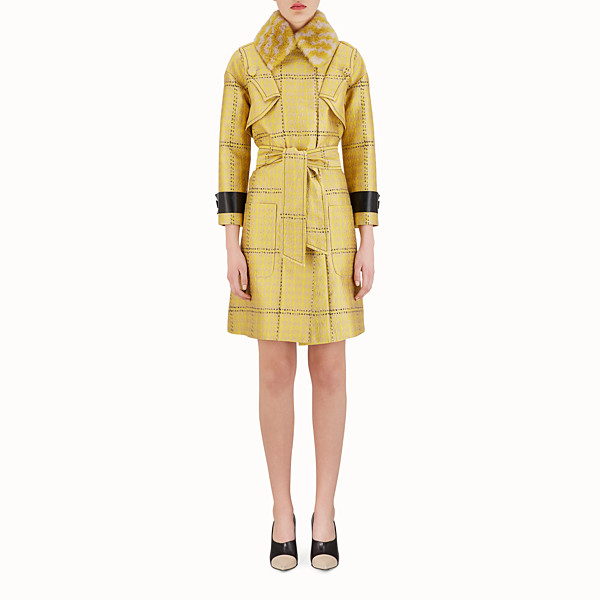 FENDI OVERCOAT - Check fabric trench coat - view 1 small thumbnail
