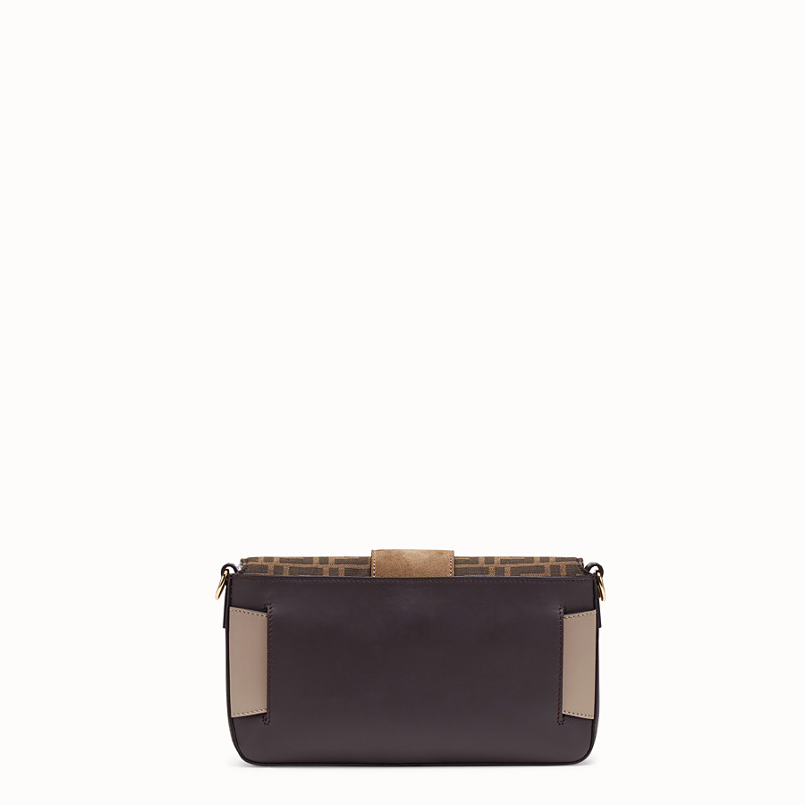 FENDI BAGUETTE - Brown calfskin bag - view 4 detail