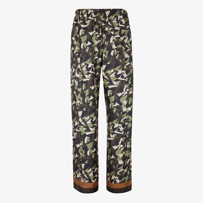 FENDI PANTS - Multicolor silk pants - view 2 detail