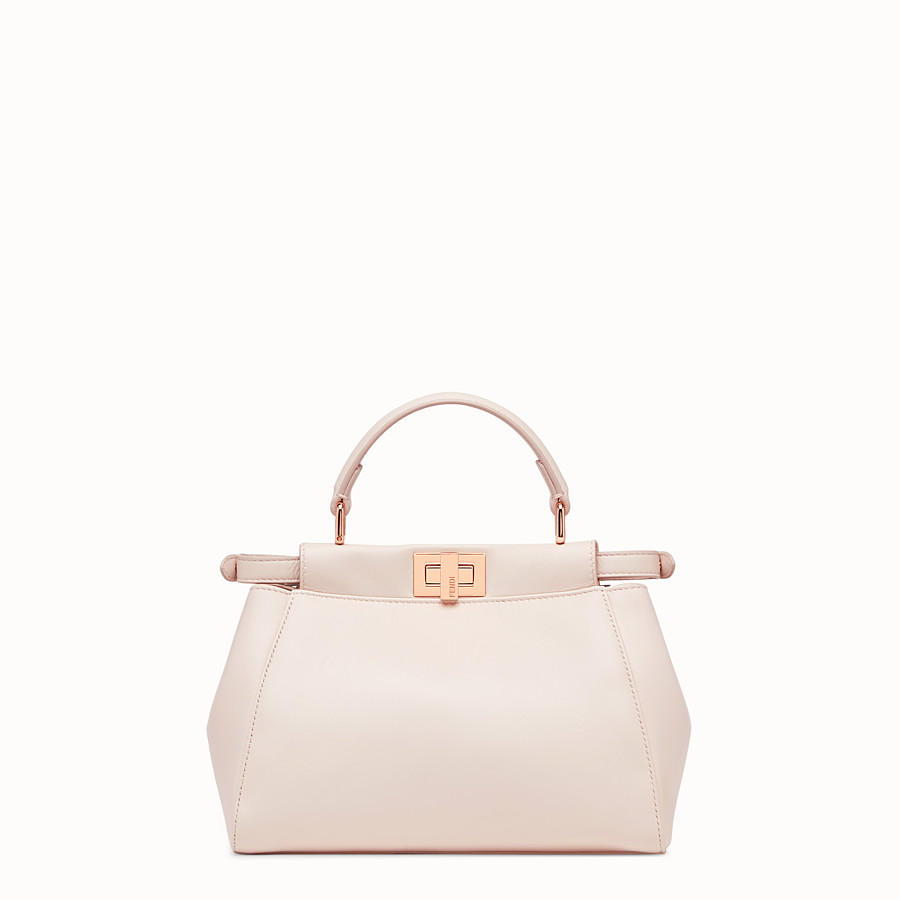 FENDI PEEKABOO ICONIC MINI - Pink leather bag - view 3 detail