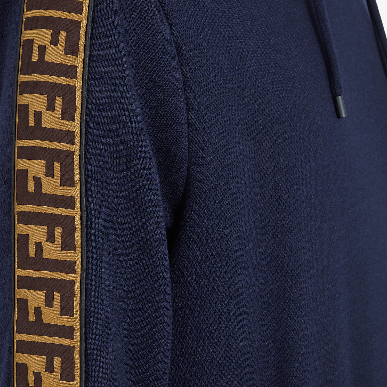 FENDI SWEATSHIRT - Blue wool and cotton sweatshirt - view 3 detail
