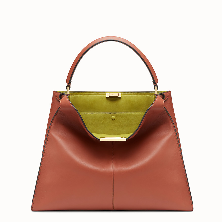 FENDI PEEKABOO X-LITE LARGE - Red leather bag - view 3 detail
