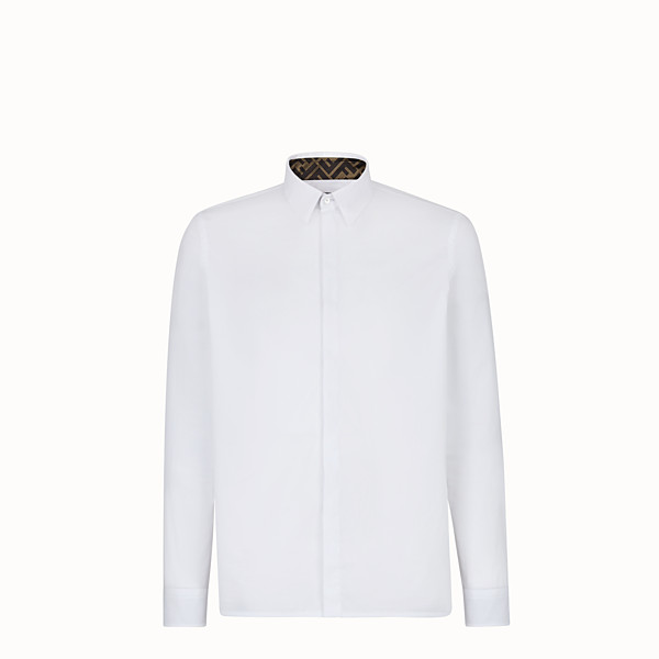 FENDI SHIRT - White cotton shirt - view 1 small thumbnail