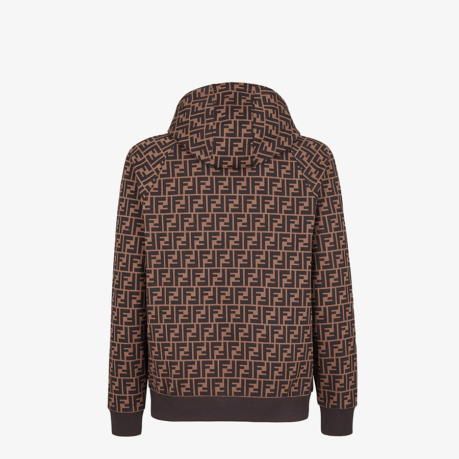 FENDI SWEATSHIRT - Brown cotton sweatshirt - view 2 detail