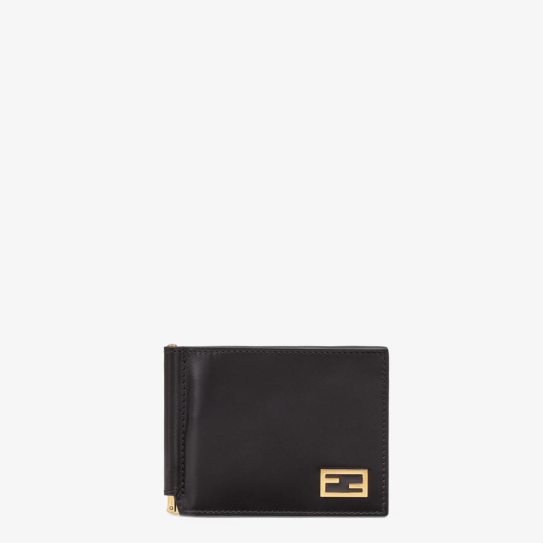 FENDI CARD HOLDER - Black leather money clip - view 1 detail