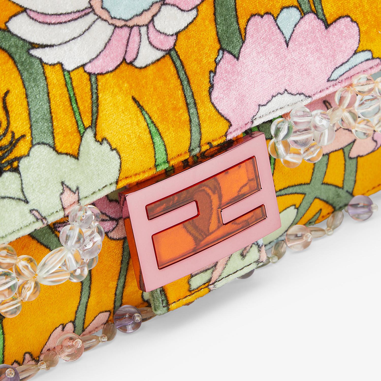 FENDI BAGUETTE - Bag in multicolor chenille - view 6 detail