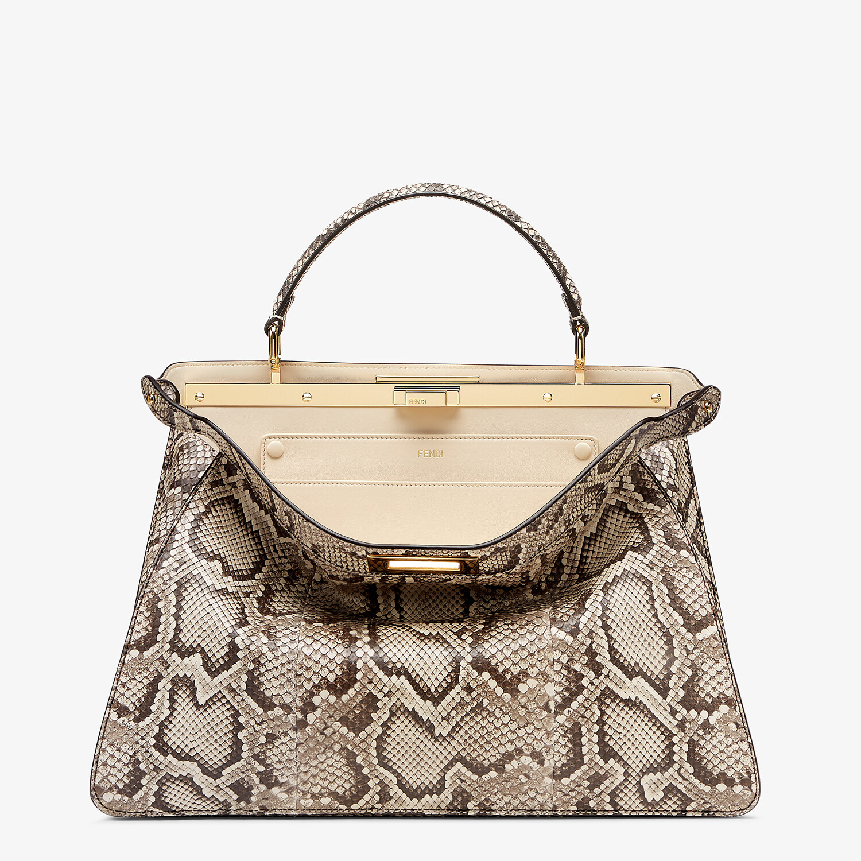 FENDI PEEKABOO ISEEU LARGE - Natural python leather bag - view 1 detail