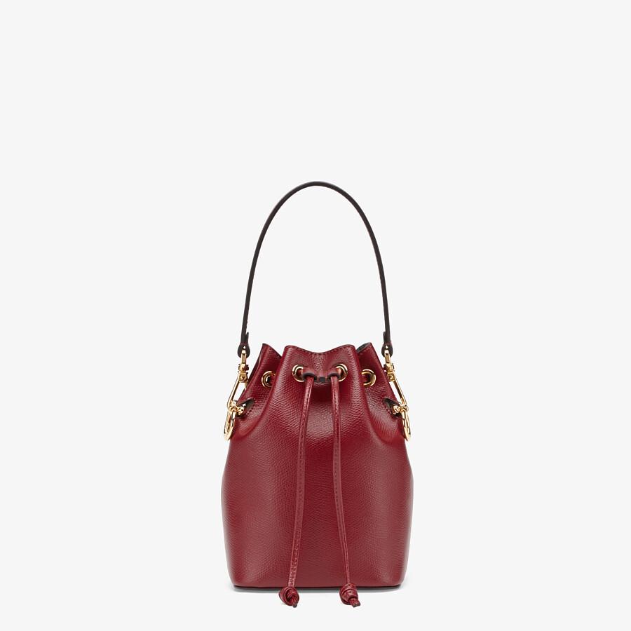 FENDI MON TRESOR - Burgundy leather mini bag - view 1 detail
