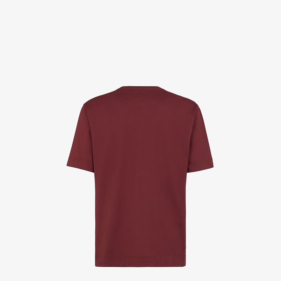 FENDI T-SHIRT - Burgundy cotton T-shirt - view 2 detail