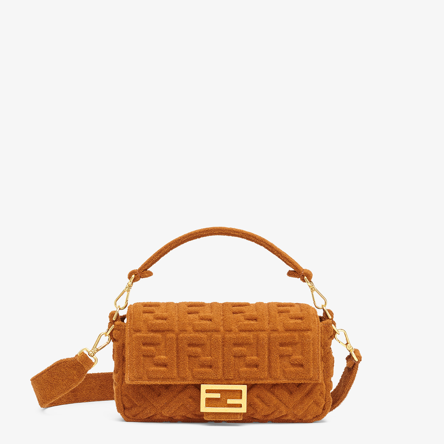 FENDI BAGUETTE - Brown terrycloth bag - view 1 detail