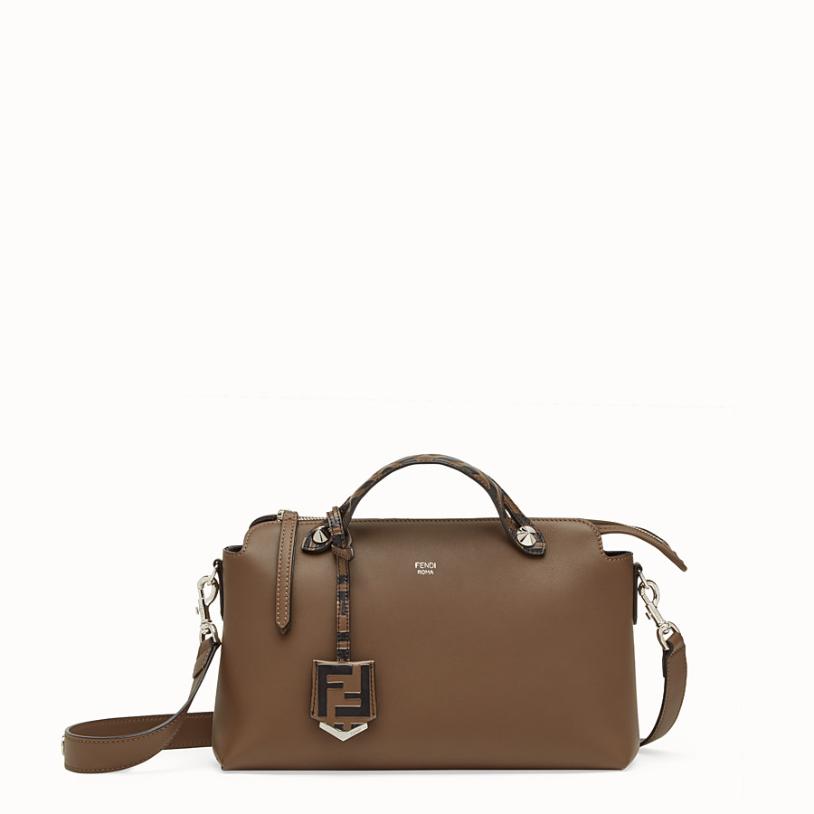 FENDI BY THE WAY REGULAR - Brown leather Boston bag - view 1 detail